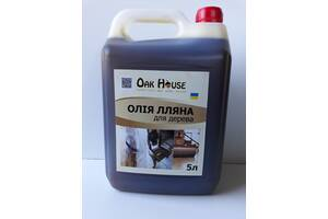 Льняное масло для обработки изделий из дерева 5л