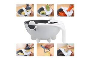 Многофункциональная овощерезка, измельчитель Wet basket vegetable cutter,  дуршлаг