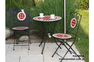Набор балконных мебели мозаика KARMEN стол + 2 стула