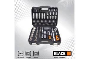 Набір ключів/Набор ключей головок инструментов Black 108 ел ПОЛЬША