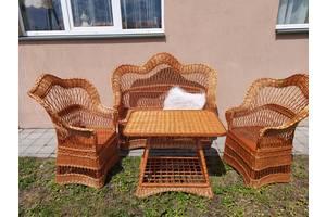 Набор мебели из лозы: диван+2 кресла+стол