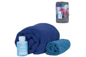 Набір рушників та шампунь Sea To Summit Tek Towel Wash Kit XL Cobalt Blue (STS ATTKITXLCO)
