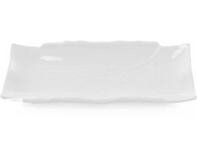 Набор 4 прямоугольные тарелки White City Бамбук 30х18 см для суши (белый фарфор) (psg_BD-988-178)- объявление о продаже  в Киеве