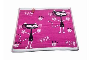 Набор хлопковых кухонных полотенец Koloco 35x35 4шт Коты абстракция розовый SKL53-239930