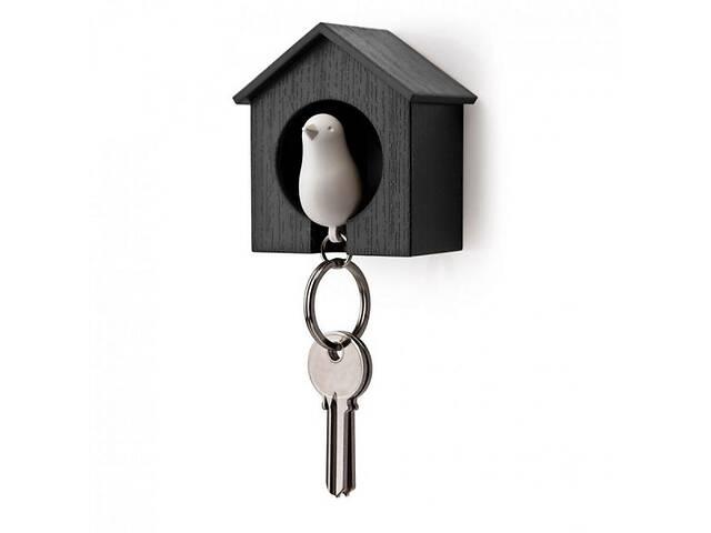 бу Набор ключница настенная с брелком-свистком для ключей 7,2x6x4 см. черно-белая Таиланд 115117 в Киеве
