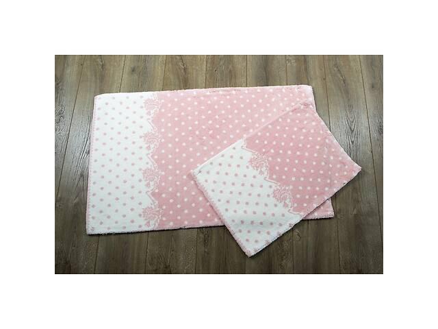 купить бу Набор ковриков в ванную комнату Irya 60x100 см и 45x60 см персиковый в Одессе