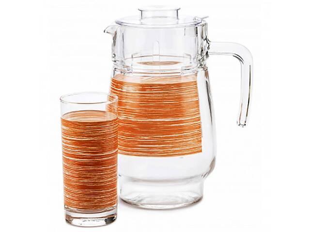 продам Набор питьевой Luminarc Brush Mania Orange P7451 7 предметов оранжевый бу в Одессе