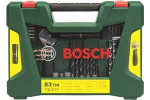 Набор сверл и бит BOSCH (83 шт.) с фонарем и раздвижным гаечным ключом