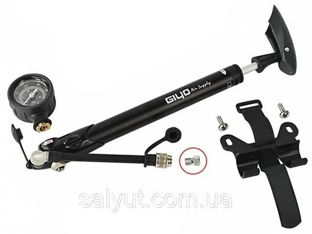 купить бу Насос трансформер AV/FV для колес и вилок GIYO GS-41D с манометром (300psi) AL (серый)  в Украине