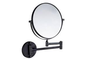 Настенное косметическое зеркало в ванную Art Design черное