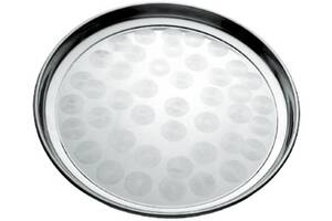 Поднос Empire круглый d 35см, металлический круговым матовым декором (EM-1335_psg)