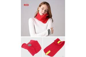 Подушка-шарф Supretto Travel Pillow для путешествий, красный (5071)