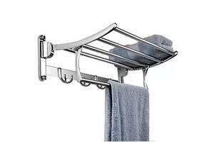 Полка для полотенец с вешалкой Art Design 65512 хром