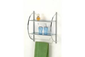 Полка в ванную комнату W-1 W-100 44х25х52 Хром BS-1009