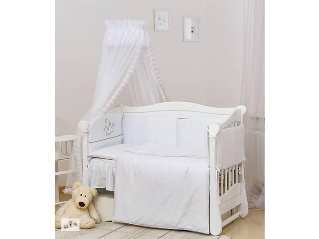 купить бу Постельный комплект с балдахином для детской кроватки Twins Romantik, 7 элементов R-004 Vintage Baby, белый в Киеве