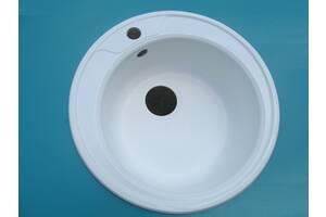Продам белую круглую кухонную мойку