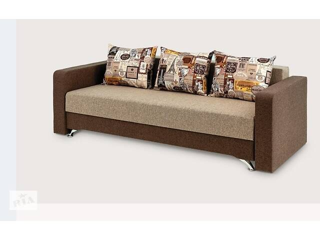 купить бу Прямий диван Кама Провентус Честер 220x87 Спальні 140х190 см Коричневий в Хмельницькому