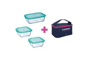 Пищевой контейнер Luminarc Keep'n Box Lagoon набор 3шт 2х380мл/820мл/ + сумка (P8001)
