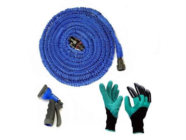 бу Садовый шланг X-HOSE для полива 30m и перчатки садовые с когтями Garden Genie Gloves SKL11-238810 в Харькове