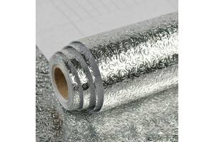 Самоклеющаяся пленка Supretto 60x300 см серебристая (6051-1)