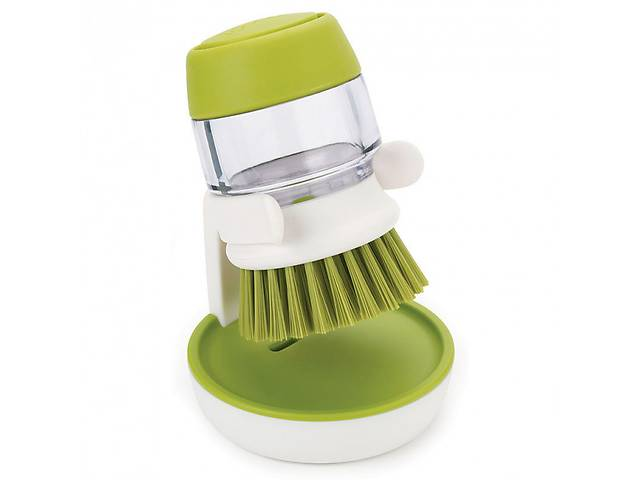 купить бу Щетка для мытья посуды JESOPB с дозатором для моющего средства Зеленый (R0079) в Киеве