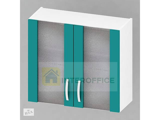 купить бу Шкаф верхний Мебель-сервис Гамма 80 витрина 80х72х28.5 Океан в Киеве