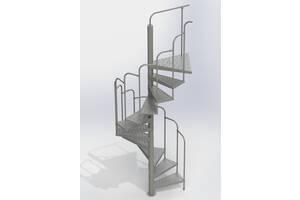 Лестницы винтовые внешние готовы к установке