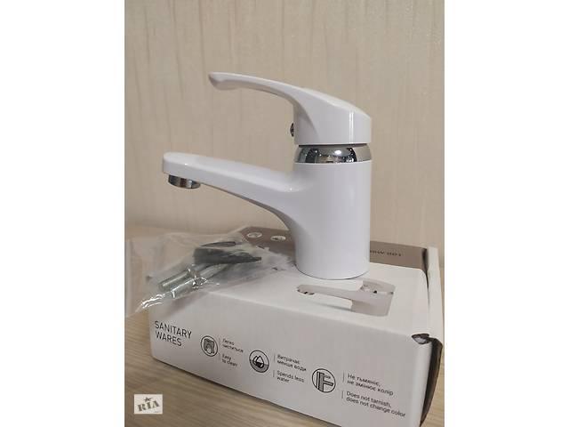 Змішувач для умивальника з термопластичного пластику Brinex 36W 001 білий- объявление о продаже  в Харкові