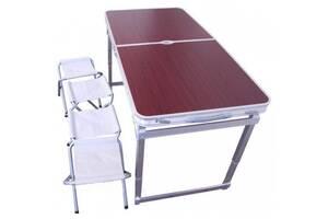 Стол - чемодан раскладной + 4 стула набор туристический Rainberg RB-9301 с регулировкой высоты (par_STOL 9301)