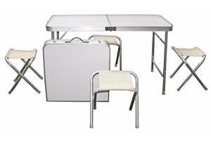 Стол складной туристический для пикника + 4 стула Tabletop Белый