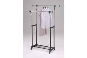 Стойка для одежды W-1 W-25 передвижная 87.5-145.5х42х94.5-168 Черный с серебристым CH-4375