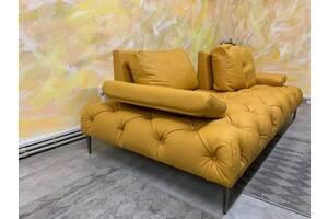 Стильный кожаный диван, современный кожаный раскладной диван, кожаная мебель