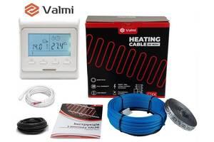 Тепла підлога Valmi 12 м²- 15м² / 2400 Вт (120м) тонкий двожильний нагрівальний кабель 20Вт/м з терморегулятором E 51
