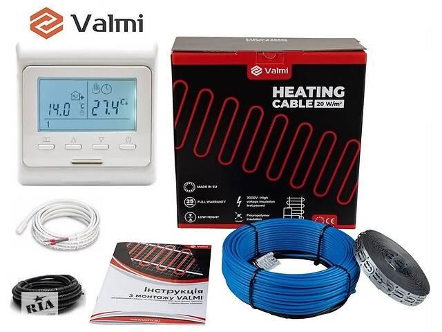 продам Тепла підлога Valmi 6 м²-7,5 м² / 1200 Вт (60м) тонкий двожильний нагрівальний кабель 20Вт/м з терморегулятором E 51 бу в Києві