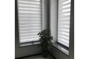 Тканевые роллеты белые День-Ночь 720×1370 мм di-house