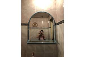 Умивальник-тюльпан з поличкою і дзеркалом. ціна договірна