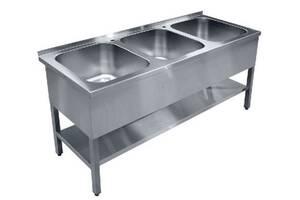 Ванна моечная ВШП-3 Мастер 300 AISI 304 Эфес (700/1500)