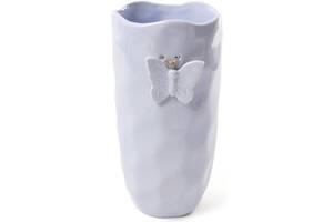 Ваза Flowers Garden Бабочка 26см мятая керамика Светло-голубая (psg_BD-902-132)