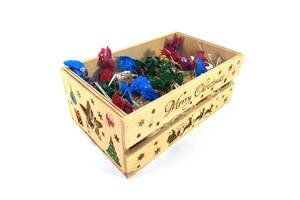 Ящик дерев'яний новорічний Майстерня містера Томаса 15х25х9.5см дерево, лак