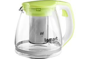 Заварочный чайник Lamart Verre с фильтром 1.1 л (LT7026)