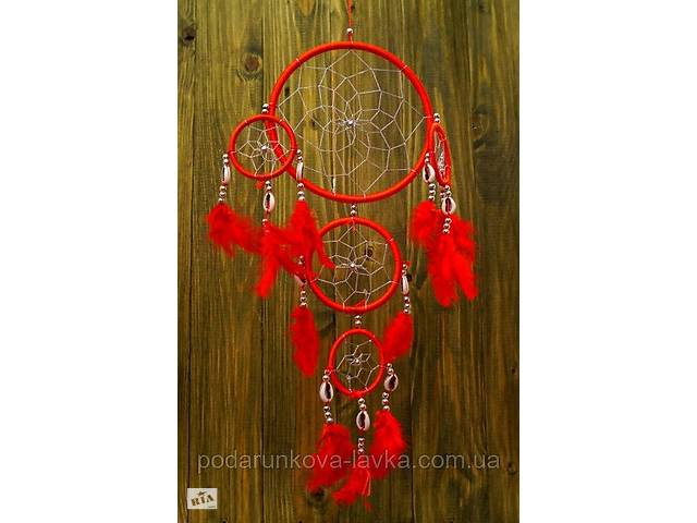 купить бу 9290113 Ловец снов 5 Колец + каури Красный в Киеве
