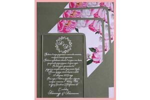 Пригласительные, конверты, подарочные сертификаты Запрошення, велюрові конверти, подарункові сертифікати