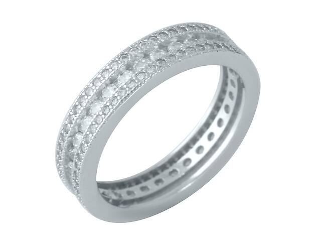 купить бу Серебряное кольцо SilverBreeze с фианитами 18 (1957325) в Киеве