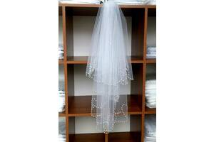 Свадебная фата волна жемчуг
