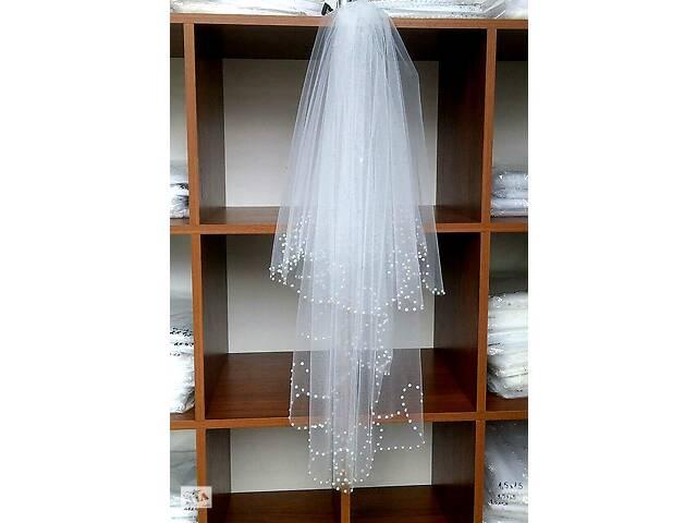 купить бу Весільна фата хвиля перли в Чернівцях