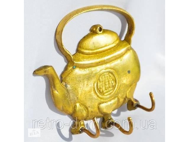 продам Оригинальный крючок,вешалка! Чайник! Кофе-чай! Бронза! Art. retr-552599586 бу в Киеве