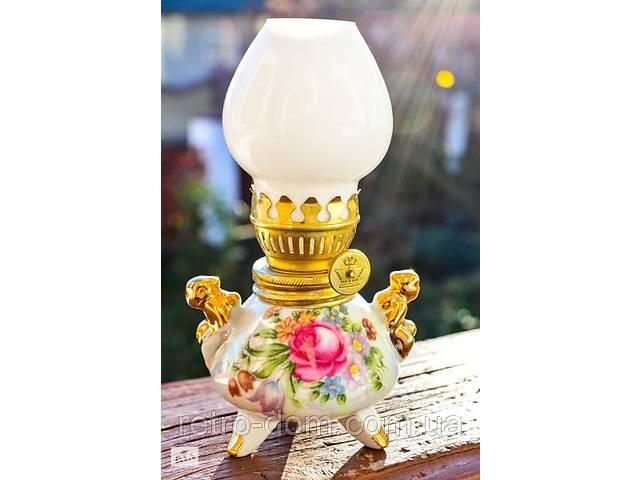 Шикарная антикварная керосиновая лампа! Германия!