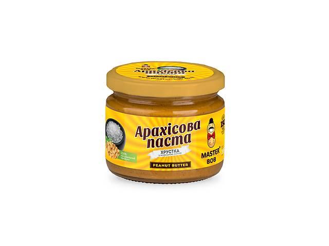 купить бу Арахисовая паста Master Bob хрустящая с морской солью 200 г (4820202930105) в Киеве