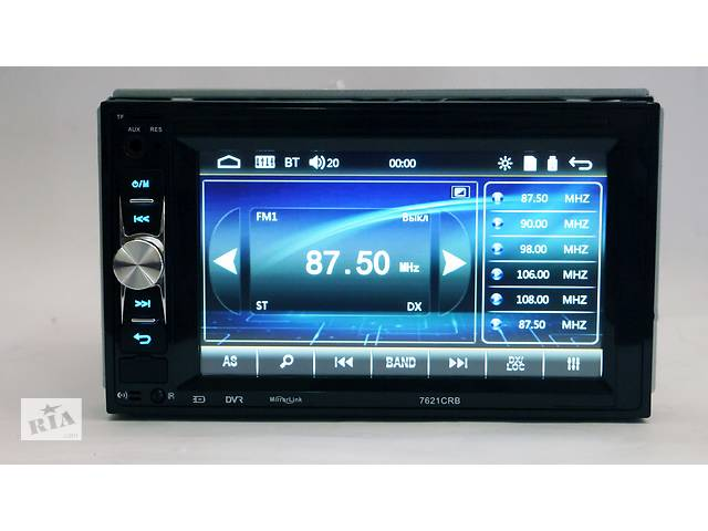 бу Автомагнитола 2din Pioneer 7621 USB, BT, SD пульт на руль в Киеве