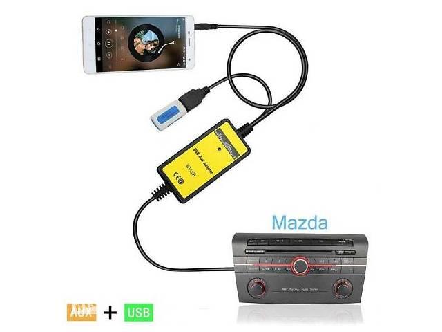 бу USB MP3 AUX адаптер для штатних магнітол Mazda 3, 5, 6, CX7, RX8 Мазда. в Переяславі-Хмельницькому